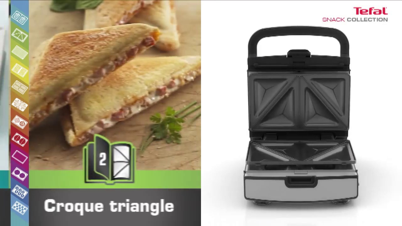 croque gaufre snack collection entrez dans la nouvelle re du snacking avec tefal youtube. Black Bedroom Furniture Sets. Home Design Ideas