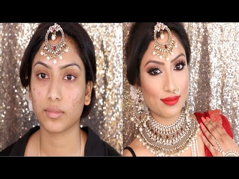 Indian Bridal Full face Makeup Tutorial | Gurp Dhaliwal