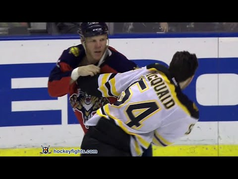 Adam McQuaid vs Shawn Thornton Mar 7, 2016