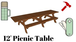12' Picnic Table Plans