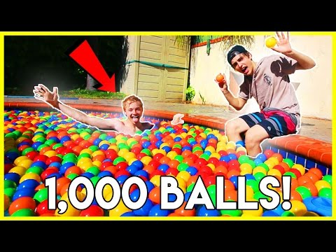 TURNING OUR POOL INTO A BALL PIT | (gone wrong...)