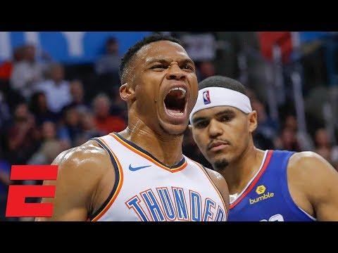 Russell Westbrook clashes with Patrick Beverley, leads Thunder in rally vs Clippers | NBA Highlights