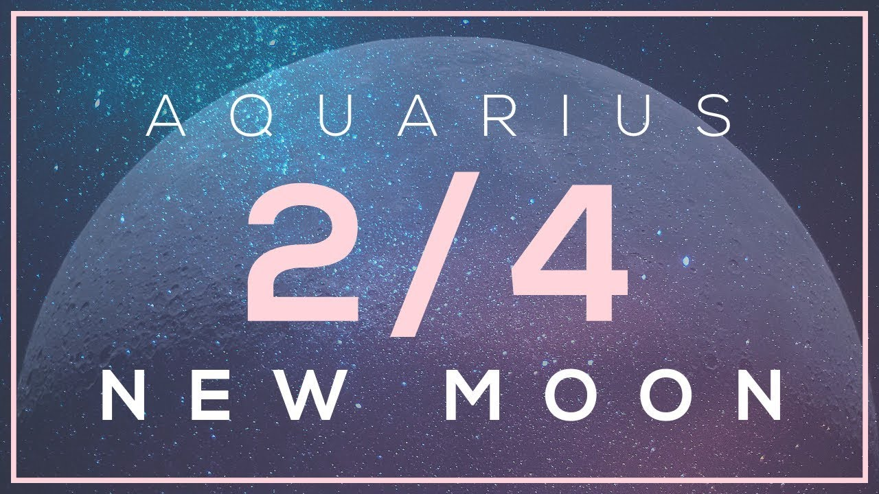 New Moon in Aquarius ♒️February 4, 2019 🌹Astrology for Twin Flames