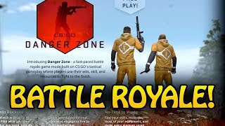 CSGO BATTLEROYALE - FREE TO PLAY - DANGER ZONE - MP5 SKINS!