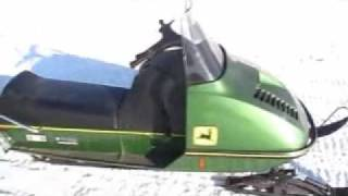 John Deere 300 snowmobile 35 years old and goin strong