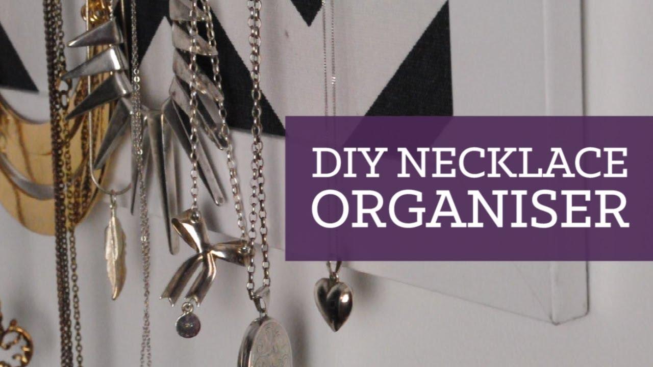 DIY necklace organiser room decor CharliMarieTV YouTube