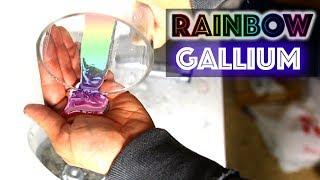 CAN YOU COLOR GALLIUM? MELTING RAINBOW LIQUID METAL EXPERIMENT!