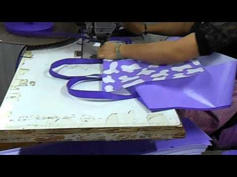 pp non woven bag and pp woven bag sewing machine and sewing process