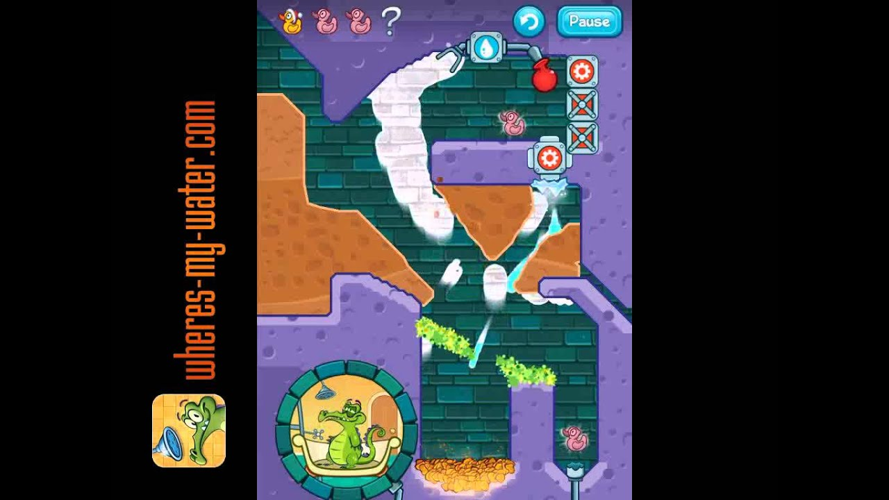 Where's My Water? Stretched Thin Level 7-16 Walkthrough - YouTube