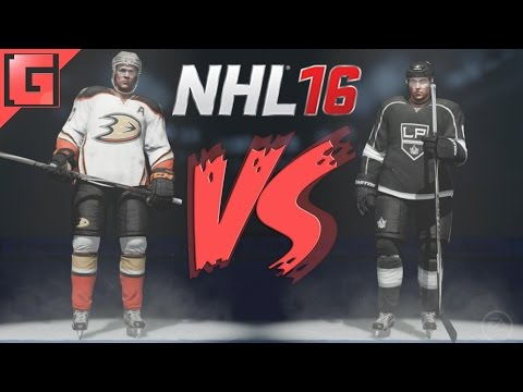 NHL 16 - Anaheim Ducks VS. Los Angeles Kings - Full Match - Ps4 Gameplay