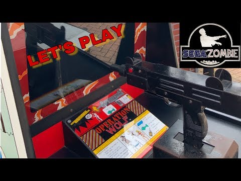 Sega Zombie - let's play Operation Wolf arcade - Original Arcade Cab
