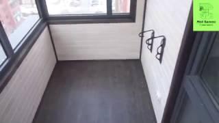 Отделка балкона стеновым паркетом ЖК Европейский.