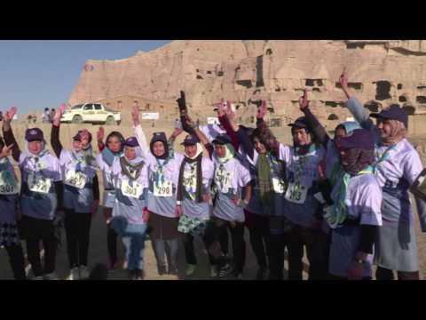 International marathon runner trains Afghanistan  girls  VOA Ashna