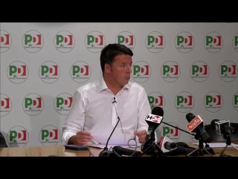 Matteo Renzi in diretta dalla Direzione Nazionale del Partito Democratico