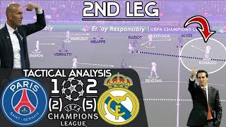Why Zidane's Tactics Deserve More Credit For Real Madrid's 2-1 Win Over PSG: Tactical Analysis|Leg 2