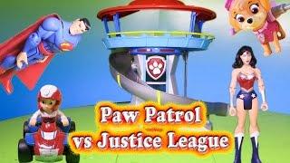 PAW PATROL Nickelodeon Paw Patrol vs Justice League Contest a Paw Patrol Video Parody