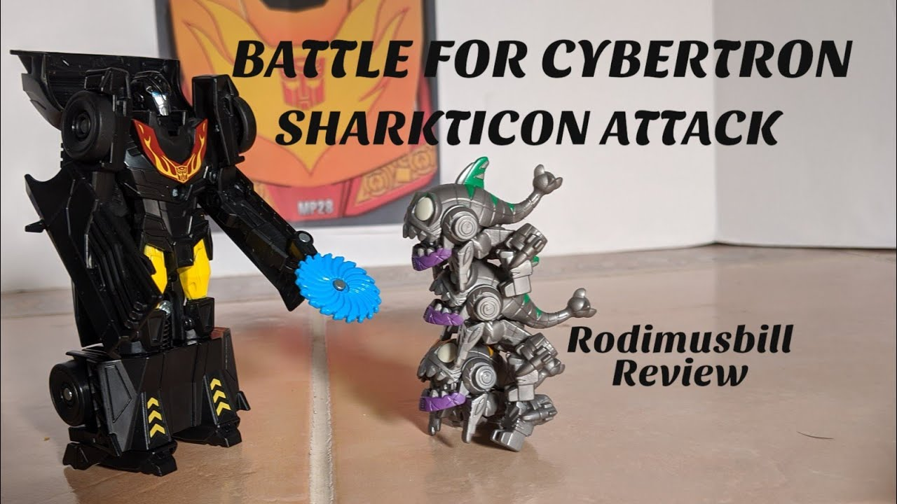 Transformers Cyberverse BATTLE For CYBERTRON SHARKTICON Attack