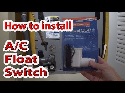 How to install and connect AC float switch in 5 min. - YouTube Ac Drain Switch Wiring Diagram on