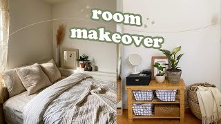 EXTREME Room Makeover + Tour | minimal, neutral, pinterest inspired