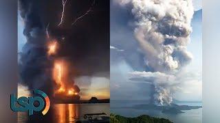 Dahsyatnya Letusan Gunung Taal Di Filipina Disertai Petir Yang Mengerikan, Inilah Penyebabnya...
