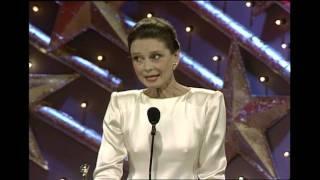 Audrey Hepburn Receives Cecil B. Demille Award - Golden Globes 1990
