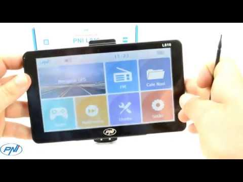 Sistem de navigatie GPS PNI L810 ecran 7 inch, 800 MHz, 256M DDR, 8GB, FM transmitter
