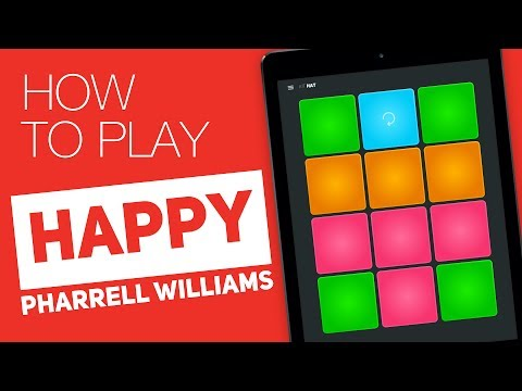 Como tocar: HAPPY (Pharrell Williams) - SUPER PADS - Hat Kit Mp3