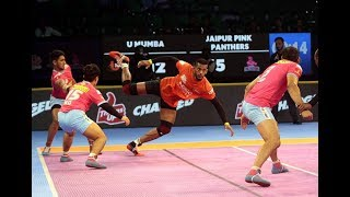 Pro Kabaddi 2018: U Mumba vs Jaipur Pink Panthers Match Highlights