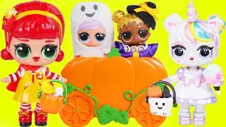 Halloween Trick or Treat with LOL Surprise Dolls Lil Sisters Costumes