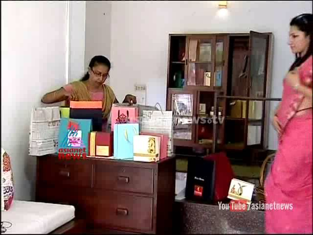 Diwia Thomas' paper bag making unit  - Madhuram jeevitham | ithalukal - 3rd October 2014