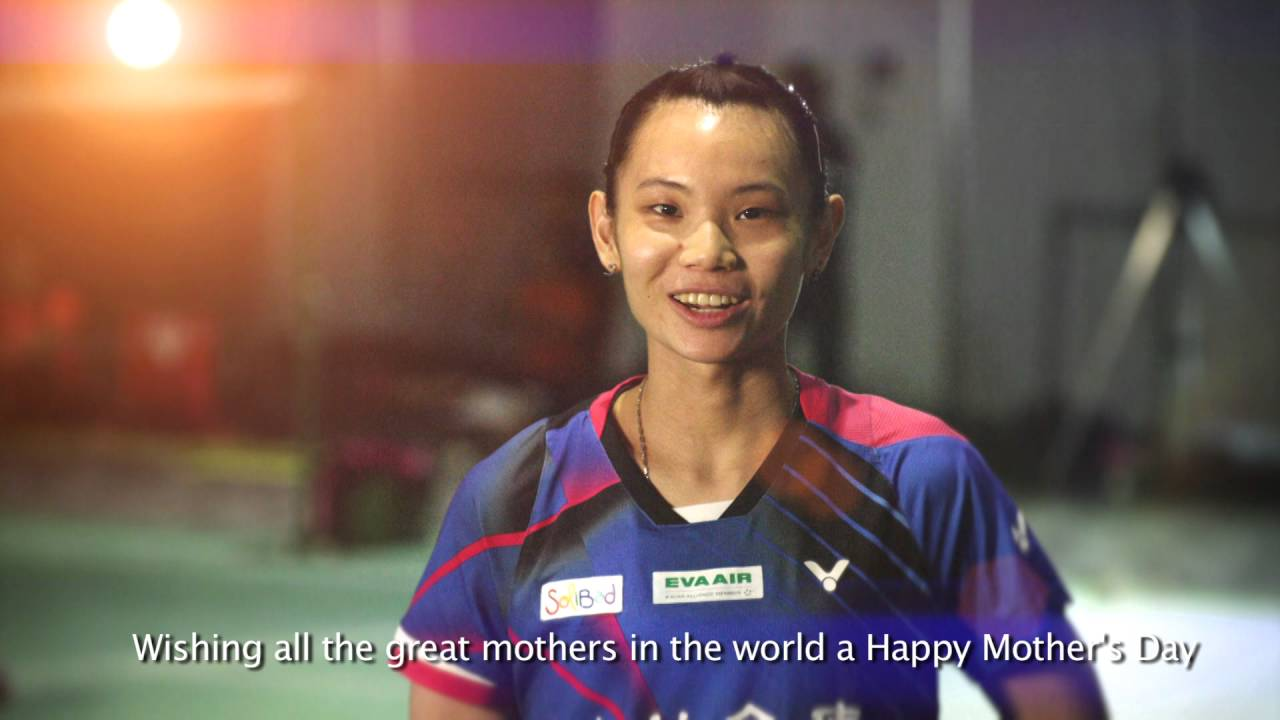 "Happy Mother s Day"" message from Tai Tzu Ying"