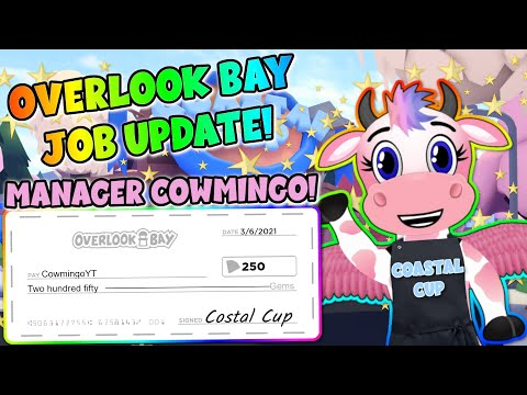 How To Play The NEW Overlook Bay Job Update! Manager Cowmingo Is Here! (All 4 Jobs!)