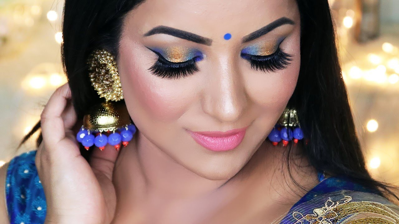 Party Makeup Tutorial (Blue And
