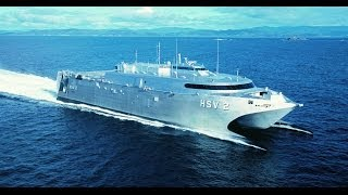 HSV 2 SWIFT - ex Military Sealift Command, Incat built wave piercing catamaran