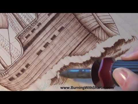 Pyrography: How to Woodburn Ocean Waves