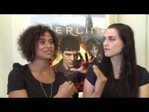 McGrath, Coulby Revel in Being 'Merlin' Baddies