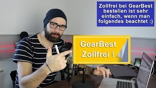 [GearBest] Zollfrei bestellen [Tutorial] [HD]