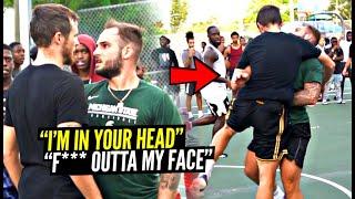 """""""Don't Hide That F***n Footage Ballislife!"""" Trash Talker Put His HANDS ON US! 5v5 Got SERIOUS!"""