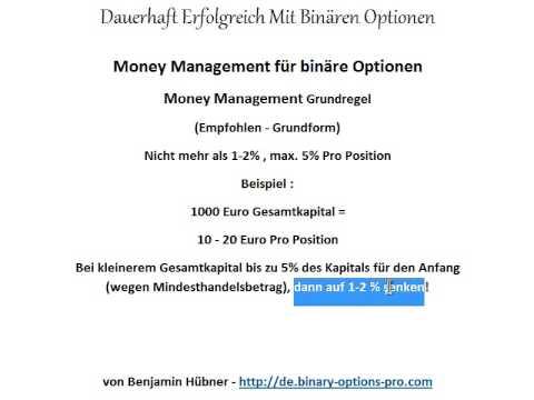 Binäre Optionen Grundlagen - Das Richtige Money Management