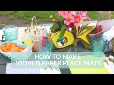 DIY! How to Make Woven Paper Placemats for Summer with Astrobrights