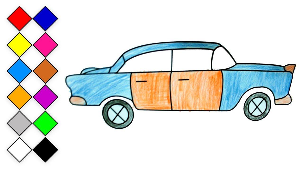 Araba Cizim Ve Boyama Renkler Ogrenelim Boyama Sayfalari