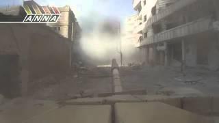 Syria! сирия! Дарайя.Танковая атака! [27.02.13]