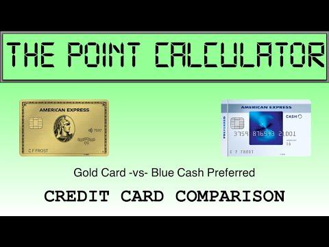AMEX Gold Vs AMEX Blue Cash Preferred Comparison Calculator