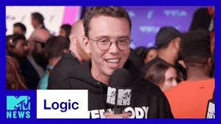 logic on everybody going gold performing w alessia cara khalid mtv news