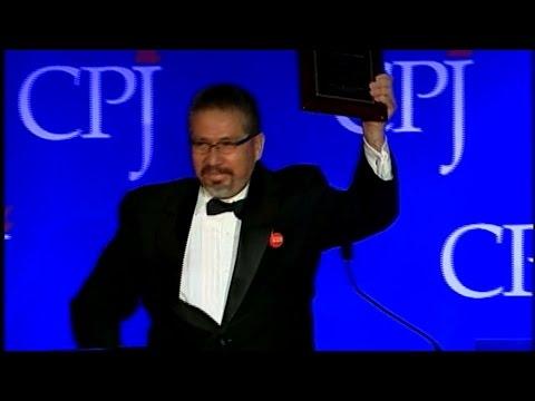 Discurso de Javier Valdez Cárdenas  Premio Internacional de Libertad de Prensa del CPJ