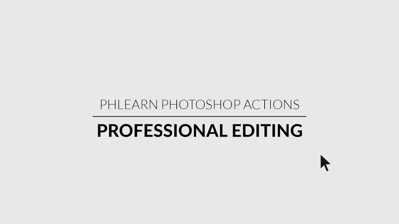 Smart Sharpen Photoshop Actions - PHLEARN