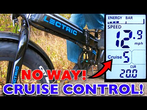 LECTRIC XP HAS CRUISE CONTROL!! Even ebikes with locked Controllers!
