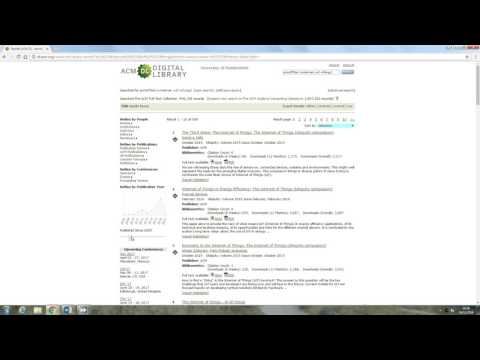 Acm Digital library advanced search and result sort