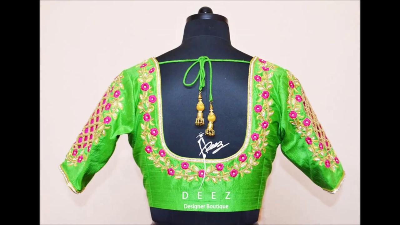 d5c1d0410ed68c new designer blouse by deez boutique. - YouTube