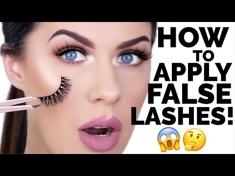 c26da569b6f HOW TO APPLY FALSE EYELASHES FOR BEGINNERS!! | EASY & FAST!!! - YouTube